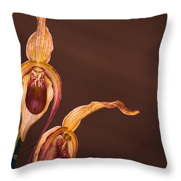 Orchid Greeting Throw Pillow