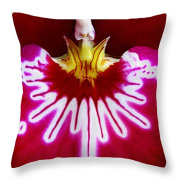 Throw Pillow featuring the photograph Orchid Harlequinn-pansy Orchid by Jennie Breeze