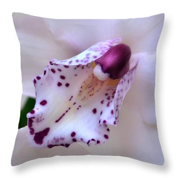 Orchid Heart. Throw Pillow