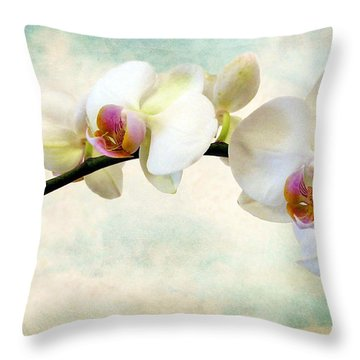 Orchid Heaven Throw Pillow