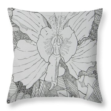 Orchid In Disguise Throw Pillow