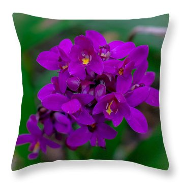 Orchid In Motion Throw Pillow