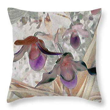 Orchid Light Throw Pillow by Ann Johndro-Collins