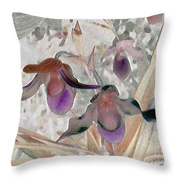 Orchid Light Throw Pillow