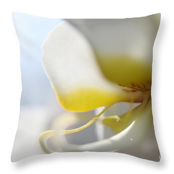 Orchid Melody  Throw Pillow by Neal Eslinger