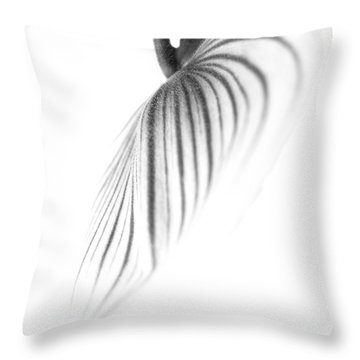 Orchid Petal #3 Throw Pillow