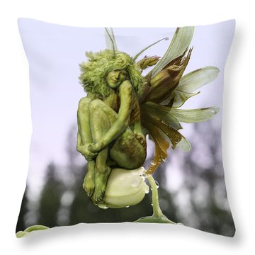 Orchid Pixie Throw Pillow