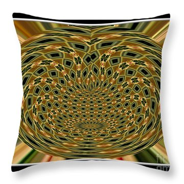Throw Pillow featuring the photograph Orchid Polar Coordinate by Rose Santuci-Sofranko