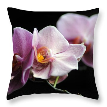 Orchid Throw Pillow by Randi Grace Nilsberg