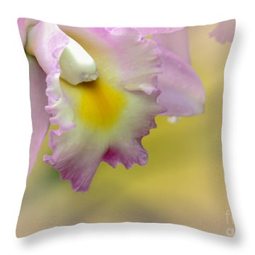 Orchid Whisper Throw Pillow by Sabrina L Ryan
