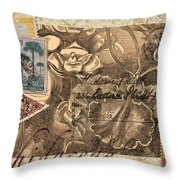 Orchidaceae Postcard Throw Pillow