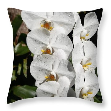 Orchids Anna Throw Pillow