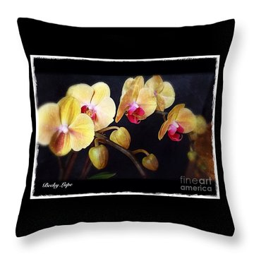 Orchids Arise Throw Pillow