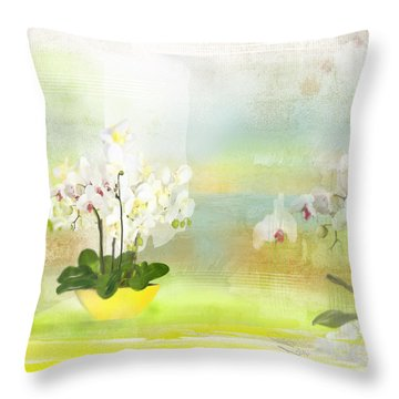 Orchids - Limited Edition 1 Of 10 Throw Pillow