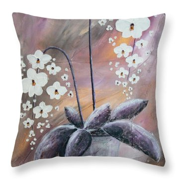 Orchids Throw Pillow by Home Art