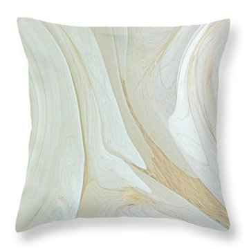 Orchids In Snow  C2014 Throw Pillow by Paul Ashby