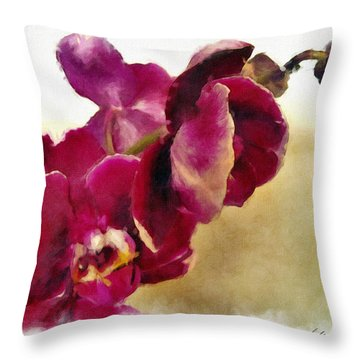 Orchids No. 5 Throw Pillow