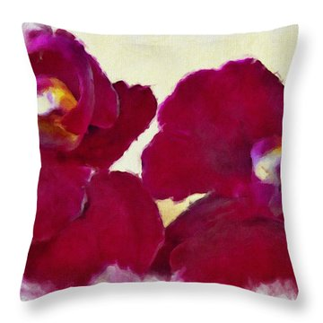 Orchids No. 4 Throw Pillow