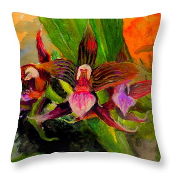 Orchiid Throw Pillow