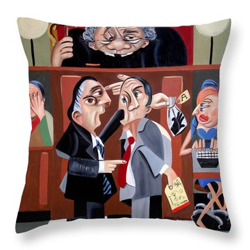 Order In The Court Throw Pillow