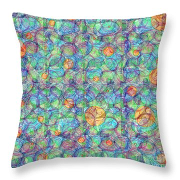 Throw Pillow featuring the digital art Order In The Maddness by Gabrielle Schertz