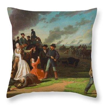 Order No. 11, 1865-70 Oil On Canvas Throw Pillow