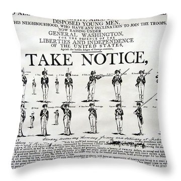 Order Of Battle - Take Notice Brave Men Throw Pillow
