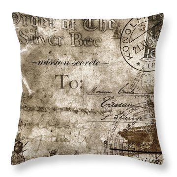 Order Of The Silver Bee Faux Poste Throw Pillow
