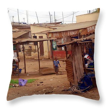 Throw Pillow featuring the photograph Ordinary Wonders Of Africa by Mikhail Savchenko