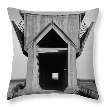 Ore Dock Marquette Michigan Throw Pillow