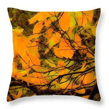 Throw Pillow featuring the digital art Ore Leaves by Kristen R Kennedy