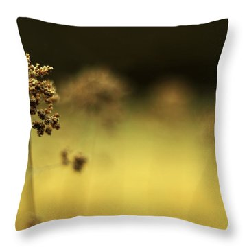 Throw Pillow featuring the photograph Oregano Winter Warmth by Rebecca Sherman
