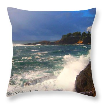 Oregon Coast 9 Throw Pillow