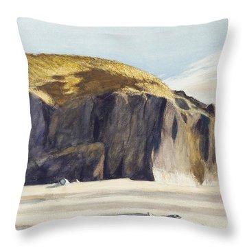 Oregon Coast Throw Pillow by Edward Hopper