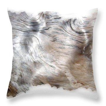 Oregon Driftwood Throw Pillow