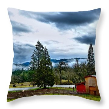 Oregon Farm Blessing Throw Pillow
