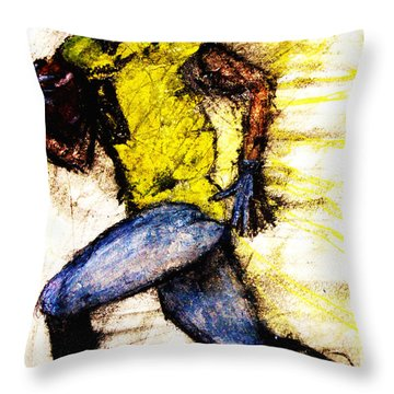 Oregon Football 2 Throw Pillow by Michael Cross