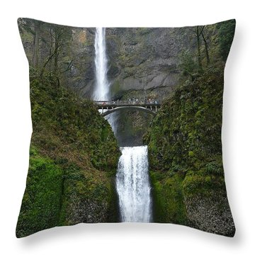 Oregon Long Shot Of  Falls Throw Pillow