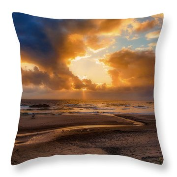 Oregon Sunset Throw Pillow