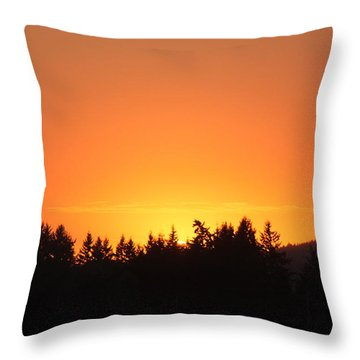 Oregon Sunset Throw Pillow by Melanie Lankford Photography