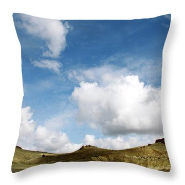 Oregon Trail Country Throw Pillow by Ed  Riche