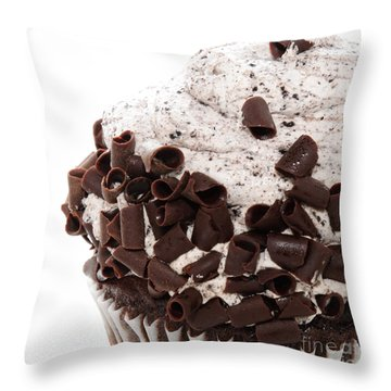 Oreo Cookie Cupcake 3 Throw Pillow by Andee Design