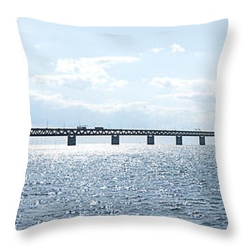 Oresundsbron Panorama 01 Throw Pillow by Antony McAulay