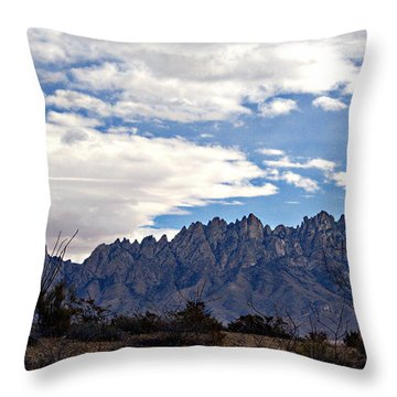 Throw Pillow featuring the photograph Organ Mountain Landscape by Barbara Chichester