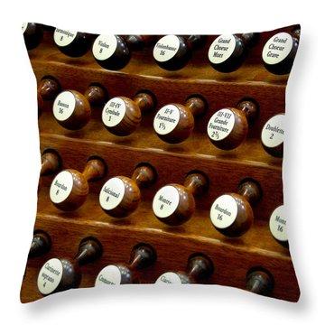 Organ Stop Knobs Throw Pillow