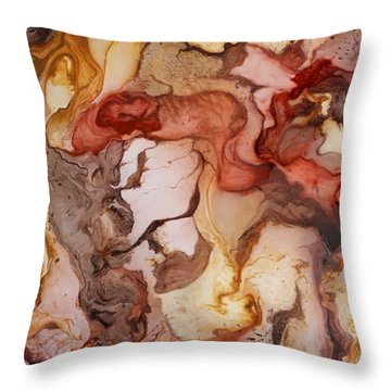 Organic 14 Throw Pillow by Angel Ortiz