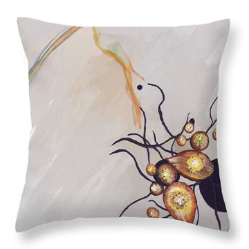 Organic Abstraction Throw Pillow by Enzie Shahmiri