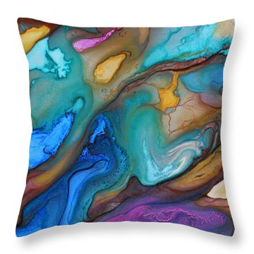 Organic Throw Pillow by Angel Ortiz