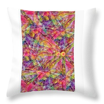 Organic Brights, A Digital Collage By Throw Pillow