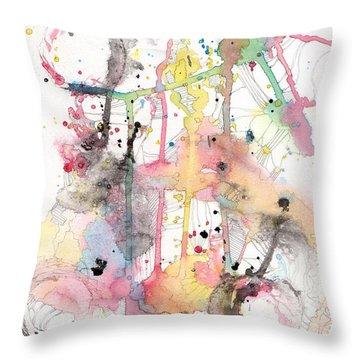 Organic Clash Throw Pillow